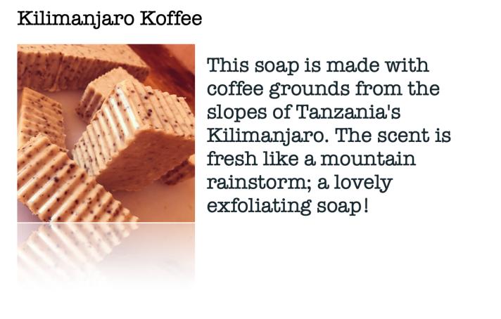 Moskito Handmade Kilimanjaro Coffee Soap