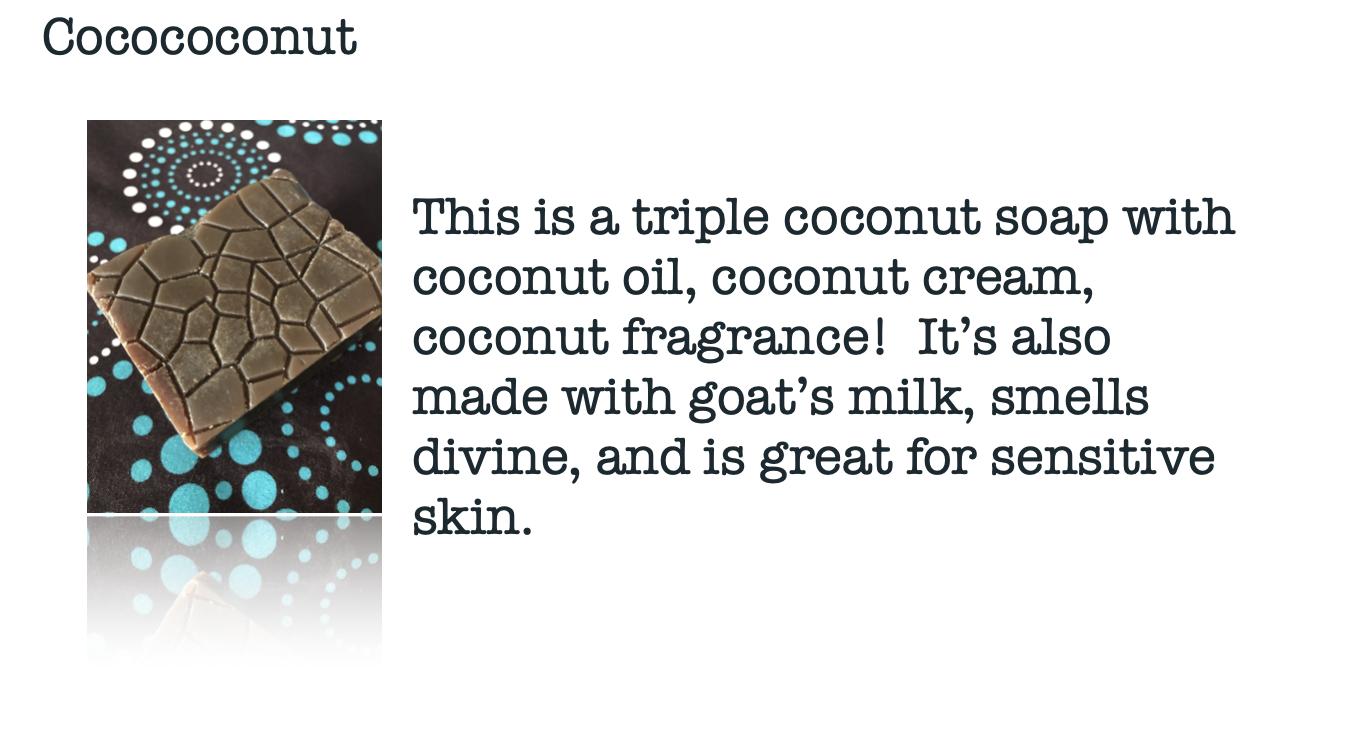 Moskito Handmade cocococonut soap