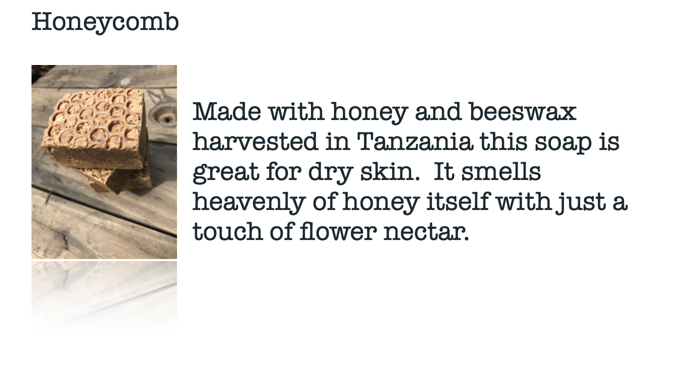 Moskito Handmade Honeycomb soap