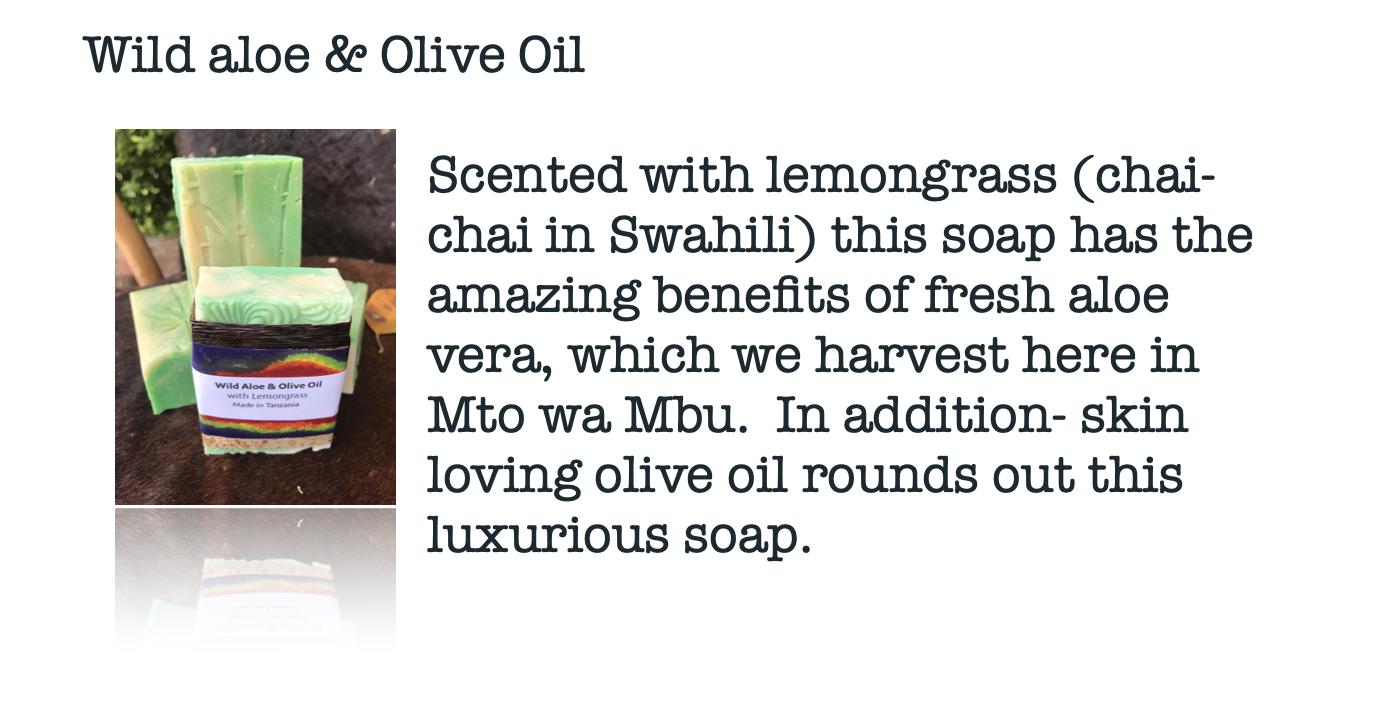 Wild aloe & Olive Oil Soap Moskito Handmade